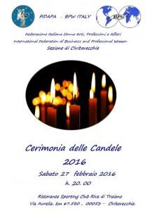 Cerimonia candele 2016