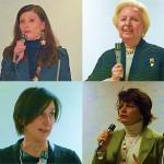 In alto da sinistra: Alice Lupi e Flaminia Mazziotti; in basso da sinistra Pina Terenzi, Marina Pinzari Perinelli