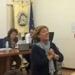 La prof.ssa Vera Improta in un momento del recital