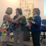 La Presidente della sezione FIDAPA di Civitavecchia Palmina Falla ringrazia le proff.sse Adele Zirulia e Vera Improta